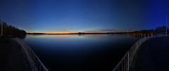 Tegler See (Pinky0173) Tags: berlin see lake germany tegel blue bluehour blauestunde canon panorama stiching stich pinky0173