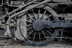 Iron Age (Russ Allison Loar) Tags: train amtrak metrolink transportation rail lightrail traintracks locomotion passengers commute commuting railroad derail derailing railaccident trainaccident commutertrain bullettrain highspeedrail ironage wheel locomotive industrialage metal steamengine