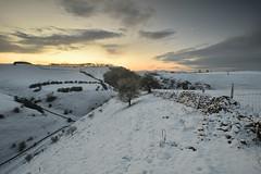 Winter's dawn (Andrew Mowbray) Tags: whitepeak walkinginderbyshire winter biggindale wolfscotedale peakdistrict peakdistrictnationalpark derbyshire riverdove derbyshirestaffordshireborder hartington
