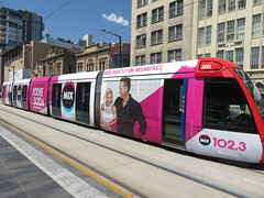 Tram 105 on North Tce (RS 1990) Tags: friday 1st march 2019 tram citadis australia southaustralia adelaide 205 mix1023 wrap advertising