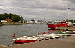 A9691HELSa (preacher43) Tags: helsinki finland sky clouds port water building architecture boats