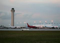 Miami freight ops  .. dusk (Flame1958) Tags: airfreight aircargo mia kmia 150219 0219 2019 boeing767 b767 767 abxair aerounion n351cm 7906 miamiairport