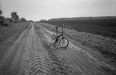 *** (PavelChistyakov) Tags: film agfa apx 35mm negative canon slr photography bw black white monochrome road bike bicycle russia nature tula region oblast village countryside