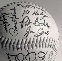 1992 Toronto Blue Jays Autographed Baseball (Joseph Hollick) Tags: centersquarebw redux2018 macromondays blackandwhite baseball sport toronto bluejays torontobluejays autograph autographed