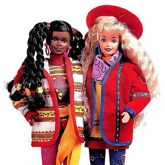 1990 Benetton Barbie & Christie (Barbie Collectors Guide '90s) Tags: 1990 benetton barbie christie