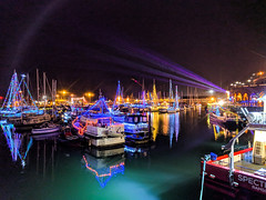 Christmas Lights in Ramsgate Harbour (BeerAndLoathing) Tags: pixelxl december googlepixel england winter uktrip winter2018 trip 2018 android cellphone pixel google kent unitedkingdom gb
