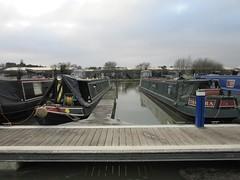 Trinity Marina Hinckley (LookaroundAnne) Tags: canal ashbycanal marina trinitymarina narrowboats boats bridge sky hinckley leics leicestershire water