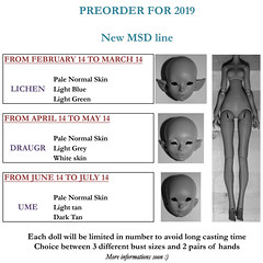 SCHEDULE PREORDERS 2019 NEW MSDs (Le Tama) Tags: bjd ball jointed doll balljointeddoll depthsdolls depths dolls tama urethane lichen ume draugr vampire elf asian color preorder resin