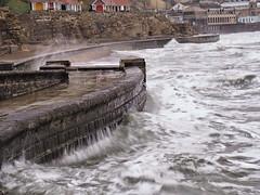Scarborough seas (oneofmanybills) Tags: scarborough sea seaside water piers spray rough waves foam waterfront