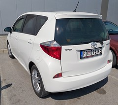 2012 Toyota Verso-S (FromKG) Tags: toyota versos white car kragujevac serbia 2019