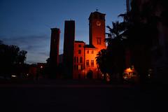 DSC_0445_5159. Savona : Le tre torri - The three towers. (angelo appoloni) Tags: liguria savona le tre torri luci della sera ora blu ligurian region savonacity the three towers evening lights blue hour portabalneiodelbagno