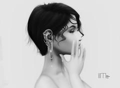 ^^Swallow^^ Ears Contest 2019 lindalindalein mayo 3 (lindalindalein mayo) Tags: swallow ear sl second life digital art catwa bento head linda tram hair black white monochrome new blog style fashion mood silence you me