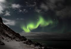 Aurore boréale - Norvège - Norway (Puce d'eau) Tags: aurore boréale norway norvège lofoten senja nuit vert couleurs lumières canon 1855mm