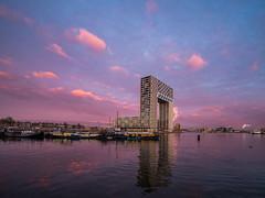 P1030724 (rpajrpaj) Tags: amsterdam cityscape nederland nederlandvandaag netherlands city sunrise bluehour thebluehour