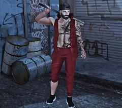 [LOB] UP YOUR STYLE (Sɲίper Dayɲ-Vίʅʅota) Tags: lob menswear male themensjailevent mancave mainstore blog blogger style red bat pose modulus belt
