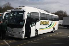 YT15YOJ - Dartline (Dealtop Exeter) (lazy south's travels) Tags: membury services m4 england english britain british uk coach bus dartlinecoaches yt15yoj irizar