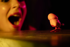 addickted (@_polod_) Tags: addict dick tracy toy woman kid jump walk vintage retro funny conceptual blur disco color gel flash strobe speedlight macro fast photography zizi sauteur jumper