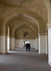 Walking through the halls of Akbar's Mausoleum in Agra, India (albatz) Tags: islam akbar mughal emperor mausoleum agra india indoislamic architecture arches hall