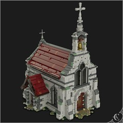 Medieval chapel (Corvus Auriac MOCs) Tags: lego moc church chapel christian building sacred place brick god art design medieval gothic fantasy