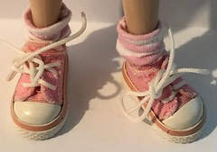 "Pale Pink And White Stripes..Short Socks For Blythe... • <a style=""font-size:0.8em;"" href=""http://www.flickr.com/photos/34492931@N07/46814189351/"" target=""_blank"">View on Flickr</a>"
