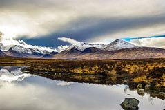 Rugged and Beautiful (Brian Travelling) Tags: scotland pentax pentaxk20d sky clouds mountains lochba rannochmoor highlands westhighlands west highland colours coloursofscotland color rugged desolate water