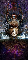 Seeing Stars (Vincent Mattina (aka FLUX)) Tags: space stars god birth death psychedelic tree earth eye indian america