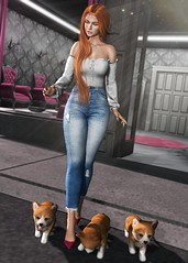 LOTD 407 (Brendo Schneuta) Tags: osmia lamb fashiowl pants jeans dog pose poses backdrop foxcity hair female girl uber event events releases fashion moda estilo style secondlifeblog second secondlife sl bloggersl blog blogger keepcalm game avatar virtual bento lelutka new brendo