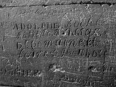 Years of Graffiti, Arles Amphitheatre (bobbex) Tags: graffiti writing stone provence bw blackwhite blackandwhite mono