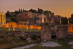 Tramonto imperiale / Imperial sunset (Rome, Lazio, Italy) (AndreaPucci) Tags: rome lazio roma italia italy andreapucci roman empire fora ruins