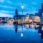 Cityscape in blue hour thumbnail