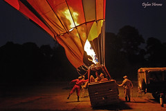 Nearly Aloft (dylanawol66) Tags: balloon fire people contrast night color kenya africa masaimara shadow emotion adventure float air agression black