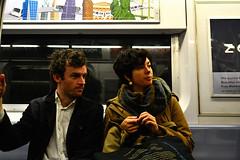 (xtaros) Tags: subway nyc newyork xtaros man woman window subwaycarriage streetphotography street streetshots candid candidshot offthehip