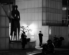 Shadowy Men (RW Sinclair) Tags: green seoul korea gangnam fujifilm fujinon xt1 xf56mmf12r xf56 56mm bokeh bokehporn winter 2019 february street streetphotography urban city citylife people