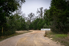 Road closed (Naity Dhim) Tags: pedernales national parc texas austin sign road closed forest sel1870z