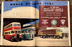 """World headquarters ...."" Advert issued by Associated Commercial Vehicles, London, 1950 (mikeyashworth) Tags: mikeashworthcollection aec aclo acv london southall manchester coventry advert crossley crossleymotors maudslaymotors associatedequipmentcompany 1950 commericalvehicles douglaspost busadvertising coachadvertising commercialvehicleadvertising lorry naco netherlands export maudslay nederland"