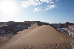 The Great Dune (Gran Duna), the Valley of the Moon (Valle de la Luna), San Pedro de Atacama, the Atacama Desert, Chile. (ER's Eyes) Tags: valledelaluna valedalua thevalleyofthemoon highlands altiplano altiplanoschilenos tierrasaltaschilenas chileanhighlands volcano vulcão montanha mountain neve snow chile sanpedrodeatacama spa desertodoatacama atacama atacamadesert desiertodeatacama desert deserto desierto nortrek nortrekatacama carlosmellasepulveda emmanuel argentiniantravelguide tour passeio sharedtour passeiocompartilhado hostalsumajjallpa albergue hostal sernatur southamerica americadosul nature natureza landscape paisagem unesco northofchile theandes cordilheiradosandes salardeatacama emmanuelourfineargentiniantravelguide comunidadatacameñadesolor cordilleradesal saltmountainrange thelosflamencosnationalreserve formaçõesrochosas rockformations lunarsurface dunas dunes thegreatdune granduna dunamayor mirador lookout