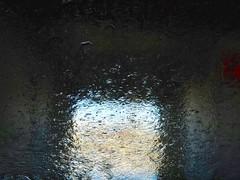 Simply Wet (Robert Cowlishaw (Mertonian)) Tags: tunnel mertonian acedia melancholy wet light canon powershot sx70hs robertcowlishaw blues dark windows shadows abstract canonpowershotsx70hs deep darkness sublime