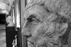 Ancient Roman _ bw (Joe Josephs: 3,166,284 views - thank you) Tags: art arthistory artmuseums culture history travel travelphotography gettyvilla california californiaphotography ancientrome ancientgreece sculpture statue bw monochrome blackandwhite