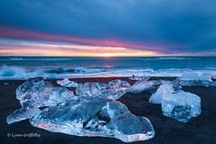 Ice Beach, Jökulsárlón D85_7793.jpg (Mobile Lynn) Tags: beach landscape morninglight water sunrise ocean glacier coast blacksand ice landscapephotography outdoorphotography easternregion iceland is