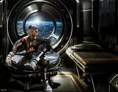 I want you in my bed... (Migan Forder) Tags: theforgestore space scifi lonely male fantasy boots