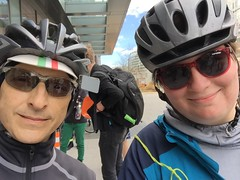 Selfie with Hannah (Mr.TinDC) Tags: selfie me ted mrtindc friends cyclists people hannah