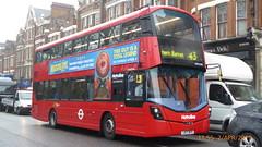 P1150434 VWH2308 LK17 DFD at Highgate Station Archway Road Highgate London March 2012 blinds (LJ61 GXN (was LK60 HPJ)) Tags: metroline volvob5lhybrid wrightbusgemini3streetdeckstyle wrightbusgemini3 106m 10600mm vwh2308 lk17dfd ap554 wrightbus