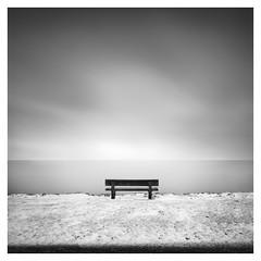 Have a seat (Marco Maljaars) Tags: marcomaljaars markermeer winter winterscape longexposure le bench snow water waterscape seascape minimalism mood alone blackandwhite bw