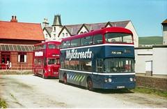 Two generations at Port Erin (Renown) Tags: buses doubledeckers leyland titan pd3 atlantean an68 isleofman nationaltransport tynewearpte n873man xmn345 porterin station depot garage bus