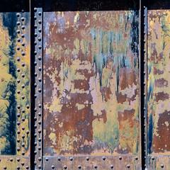 rust and rivets (jtr27) Tags: dscf4628xl jtr27 fuji fujifilm xe2s minolta md zoom 75150mm f4 f40 manualfocus rust bridge rivets maine