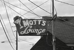 Mott's Lounge Burlington Illinois (Bytormsa) Tags: bw bar nikon nikkor film