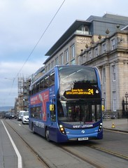 Route diverted - First Scotland East 33449 in Saint Andrew Square, Edinburgh. (calderwoodroy) Tags: sn66whb 33449 service24 firstwestlothian firstscotlandeast first doubledecker bus saintandrewsquare edinburgh scotland