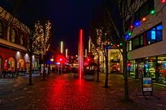 Colorful city lights (Steenjep) Tags: herning jylland jutland danmark denmark hdr lys light color farve gade street østergade gågade sony wx500