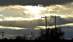 Desert sky (thomasgorman1) Tags: sky clouds sunlight nature landscape nikon lines sunshine cloudy desert az arizona trees electric sun ominous lightrays