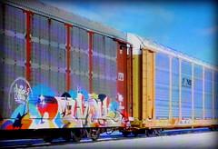(timetomakethepasta) Tags: revok msk freight train graffiti art autorack